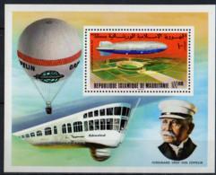 MAURITANIE - 75e Anniversaire Du Premier Zeppelin  Feuillet - Mauritania (1960-...)