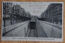 Paris - Le Métropolitain - La Rampe Du Boulevard Rochechouart - Dos Simple 1904 - (n°20351) - Stations, Underground