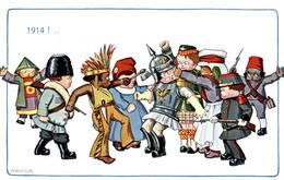 CPA - WW1 WWI Propaganda Propagande - KAISER - A. BERTIGLIA - Umoristica Satirica, Humour Satirique - NV - PV458 - Oorlog 1914-18
