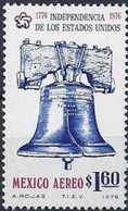 Mexico, 1976, Mi 1530, The 200th Anniversary Of American War Of Independence, Liberty Bell, 1v, MNH - Musica