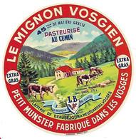 étiqu. FROM LE MIGNON VOSGIEN Au Cumin BEAUSEJOUR NEUFCHATEAU Vosges - Cheese