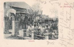 MÖRCHINGEN - MORHANGE - MOSELLE -  (57) - CPA BIEN ANIMEE DE 1899 - RESTAURATION HELLEWALD. - Morhange