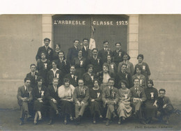 CPA L'arbresle Classe 1923 Photo Delorme Patriotique Drapeau Cocarde - L'Arbresle
