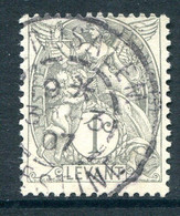 French Levant 1902-20 1c Grey Used (SG 9) - Used Stamps