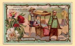 Chromo Chocolat Guérin-Boutron. Arbres Et Fleurs. La Pivoine (Chine) - Guerin Boutron