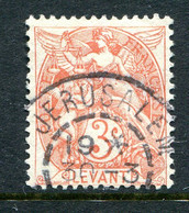 French Levant 1902-20 3c Lake-red Used (SG 11a) - Used Stamps