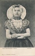 Zuid Bevelandsche Boerin Beautiful Girl In Native Costume  Undivided Back Edit Overbeeke Terneuzen - Sin Clasificación