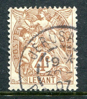 French Levant 1902-20 4c Brown Used (SG 12) - Used Stamps