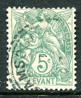 French Levant 1902-20 5c Blue-green Used (SG 13a) - Used Stamps