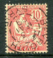French Levant 1902-20 10c Carmine Used (SG 14) - Used Stamps