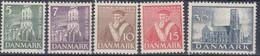 ++G2479. Denmark 1936. AFA 229-33. Michel 228-32. MNH(**). - Unused Stamps