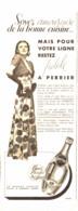 """PUB  """" PERRIER  """"    1938  ( 25 ) - Perrier"""