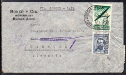 Argentina To Germany (Hamburg), 1941, Via LATI, Berlin Censor Tape (b) - Covers & Documents