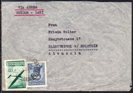 Argentina To Germany (Holstein), 1941, Via CONDOR-LATI, Frankfurt Censor Tape (e) - Covers & Documents