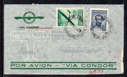 Argentina To Germany (Dresden), 1941, Via LATI, Berlin Censor Tape (b) - Covers & Documents
