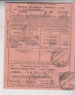 Biglietto Ticket Buillet Biglietto Ticket Andata E Ritorno Ferrovie Dello Stato Trento S. Candido  1940 - Europe