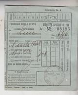 Biglietto Ticket Buillet Biglietto Ticket  Speciale Roma Lecce  1940 - Europe