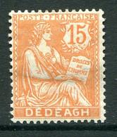 French Levant - Dedeagh - 1902-11 15c Orange HM (SG 70) - Unused Stamps