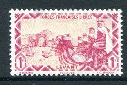 French Levant - Free French Forces - 1942 Postage - 1f Lake HM (SG 8) - Nuovi