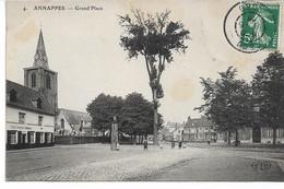 CPA NORD 59 ANAPPES Grand Place Edit ELD N°4 - Villeneuve D'Ascq