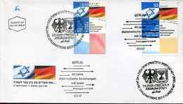 Germany Israel Special FD Cover - 40 Years Diplomatic Relations - Joint Issue - Buste