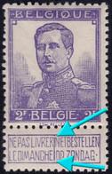 ✔️ België 1912 - Roi Albert I  Pellens - Gebroken Kader / Cadre Brisée - OBP 117 ** MNH Postfris - Unclassified