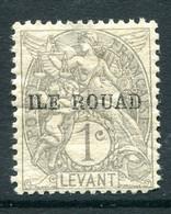 French Levant - Rouad Island - 1916-20 1c Grey HM (SG 4) - Ungebraucht