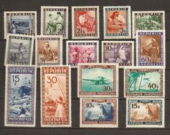 Indonésie 1949 - Petit Lot De 16 Timbres  MNH - Vrac (max 999 Timbres)
