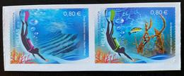 Greece, 2015 Diving Tourism, Self Adhesive Stamps, MNH - Ongebruikt