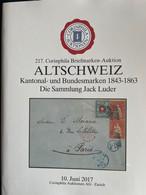 Catalogues Corinphila Auktionen. 217, 219, 226 And 233 ALTSCHWEIZ Kantonal- Und Bundesmarken 1843-1863. Four Catalogues. - Catalogues For Auction Houses