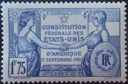 R1491/341 - 1937 - CONSTITUTION FEDERALE DES ETATS UNIS D'AMERIQUE - N°357 NEUF** LUXE - Ungebraucht