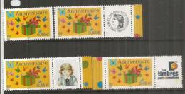 Anniversaire, Avec Vignettes Cérès & Personnalisés. 4 Timbres Neufs ** Côte 16 Euro - Unused Stamps