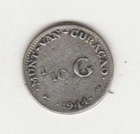 CURACAO - 1/10 FLORIN 1944 ARGENT DENVER - Curacao