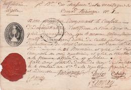 1794 1er Bataillon Des CHASSEURS De La MONTAGNE - Infanterie Lègère - Certificat De Présence Pour Etienne BONIRETON - Documenti Storici