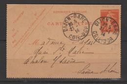Carte-Lettre Type Semeuse Grasse 10c Rouge - Letter Cards