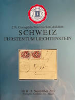 Catalogue Corinphila Auktionen. 218 SCHWEIZ FÜRSTENTUM LIECHTENSTEIN - Catalogues For Auction Houses
