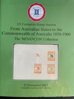 "Catalogues Corinphila Auktionen. 221, 223, 229 And 230 AUSTRALIA THE ""BESANÇON"" COLLECTION Four Catalogues - Catalogues For Auction Houses"