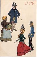 Scènes De Ville - Série Complète De 10 CPA - Sulky, Fanfare, Marchande De Fleurs, Defruits, Musique Mécanique (7011 ASO - 1900-1949