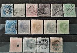 ESPAGNE - Philippines - 1870/1878 Lot De 15 Valeurs Dont 10 O / 5 */(*) (voir Scan) - Filippine