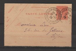 Carte-Lettre Type Semeuse Lignée 50c Rouge - Kartenbriefe