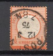 - ALLEMAGNE N° 15 Oblitéré - ½ G. Orange 1872 (gros écusson Sur L'aigle) - Cote 10,00 € - - Gebraucht