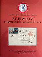 Catalogue Corinphila Auktionen. 232 SCHWEIZ FÜRSTENTUM LIECHTENSTEIN - Catalogues For Auction Houses