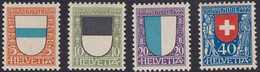 SUISSE, 1922, Armoirie De Cantons   (Yvert 188-189-190-191) - Neufs