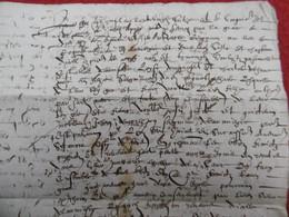 JEAN II DE MORLHON SEIGNEUR DE LAUMIERE AUX SEIGNEURS DE ROQUETAILLADE 1596 AVEYRON - Historical Documents