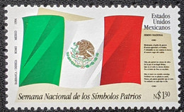 Mexico, 1994, Mi 2442, National Symbols Week, Text Of The National Anthem, 1v, MNH - Musica