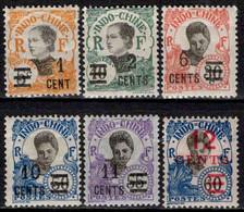 Indochine  - 1922 - Tb De 1907 Surch -  N°117 à 122  - Neuf * - MH - Ungebraucht