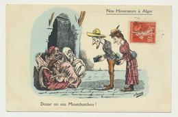 Carte Fantaisie - Illustrateur ASSUS - Arabe - Nos Hiverneurs à Alger - Caricature Arabe - Andere Illustrators