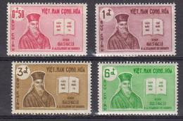 Vietnam Du Sud 1961 Yvert 173 / 176 ** Neufs Sans Charniere. Tricentenaire De La Mort Du Pere Alexandre De Rhodes - Vietnam