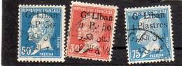 Grand Liban: Année 1924-25 ( Pasteur)  Série De 3 Valeurs   N°41,43,44 Oblitérés - Used Stamps