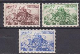 Vietnam Du Sud 1955 Yvert 29 / 31 ** Neufs Avec Charniere. Tortue - Vietnam